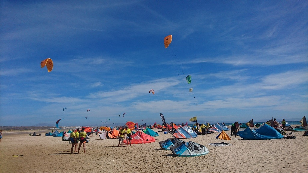 Kitesurf Schools at Los lances Beach in Tarifa