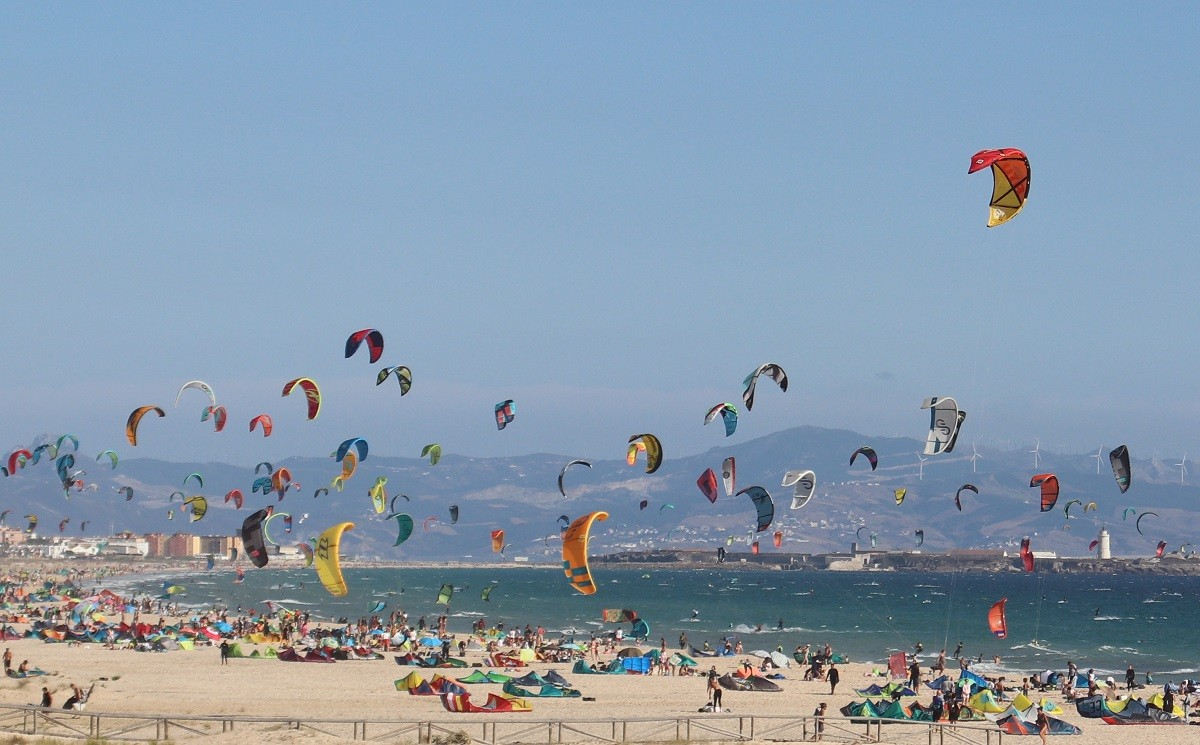 Photo of Kite surfers Paradise Tarifa august 2020 HNK