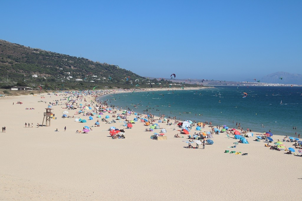 Wide white sandy beaches in TARIFA