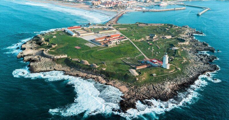 Aerial Photo Of Isla De Las Palomas