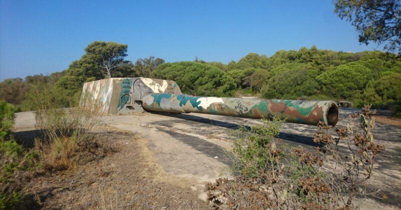Photo Cannon Vickers 361/45 mm In Tarifa